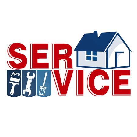 Reparación de casa con herramienta de negocios Ilustración de vector