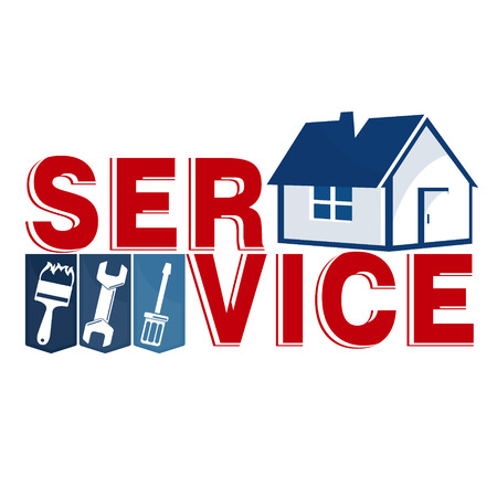 Reparatie van huis met bedrijfsinstrument Vector Illustratie