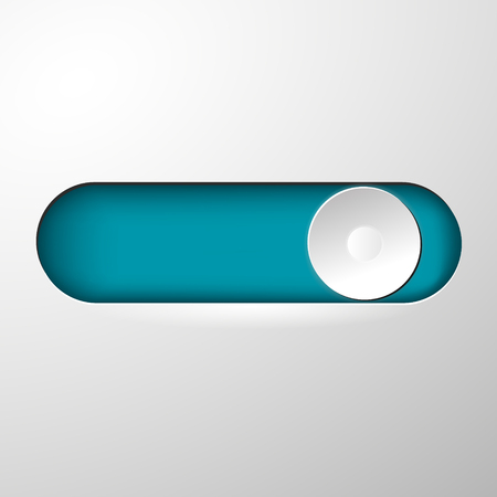 Button for switching on and off vector Illustration
