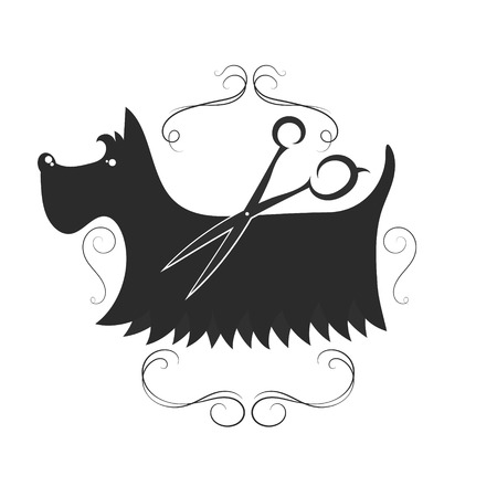 Grooming and washing dog design for business Stock Illustratie
