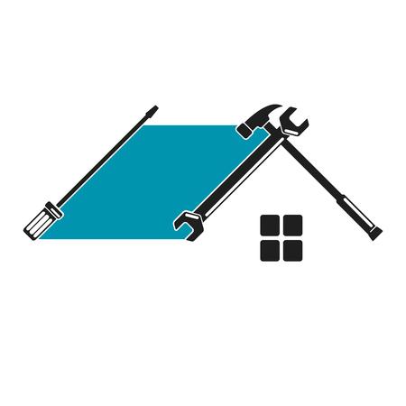logos de empresas: Inicio herramienta de reparación es un símbolo para el negocio