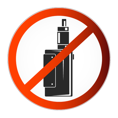 vaporized: Prohibited symbol vapor for the vector