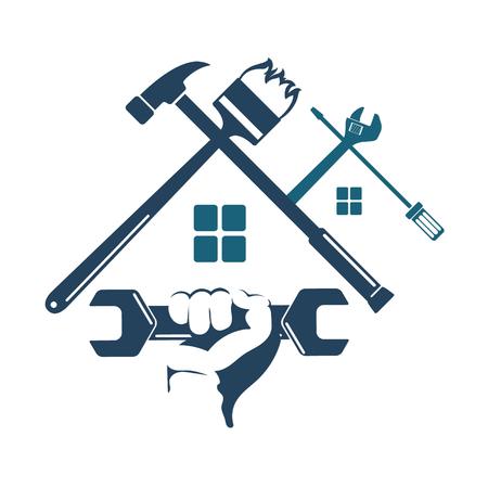 Symbol Reparaturen zu Hause für ein Business-Tool Standard-Bild - 72208732