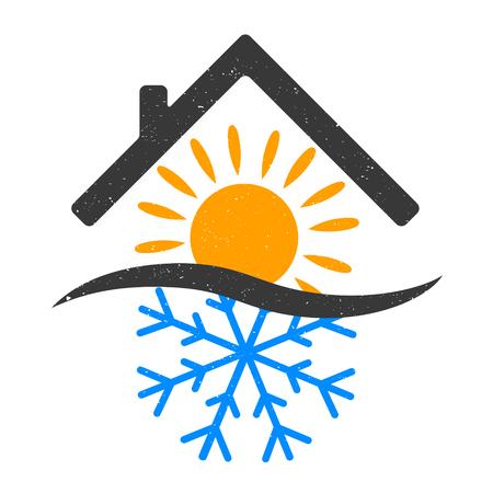 Snowflake And Sun Home Design Vector Vector