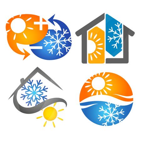 エアコン、換気のシンボル セット