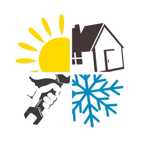 llave de sol: Symbol of air conditioner repair business