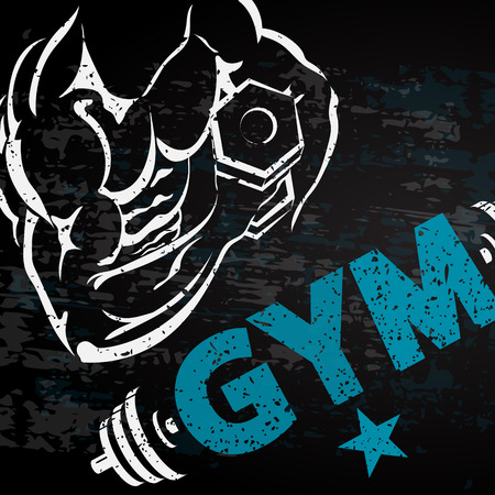 fitness gym: Gym and fitness background for business