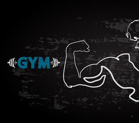 gym workout: Gym and fitness vector design