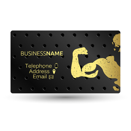 Business card for sports in the gym