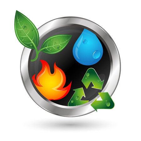alternative energy sources: Alternative sources of energy and recycling symbol vector