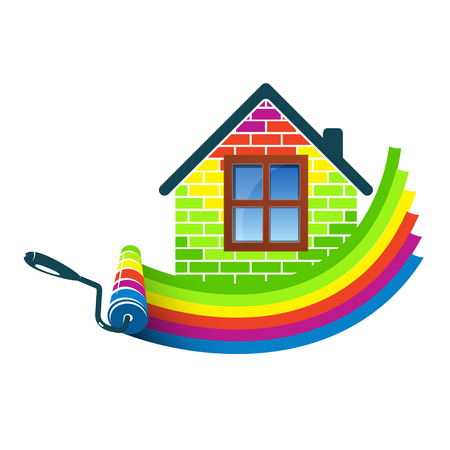 Paint roller house design for business