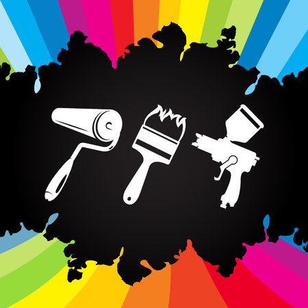 Painting tool for business vector