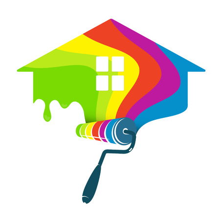 Painting house design for business Ilustracja