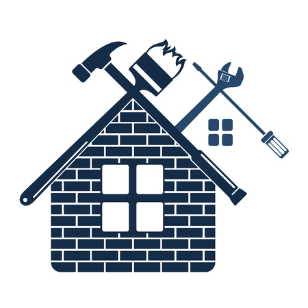 business symbol: Repair and maintenance of home symbol for business
