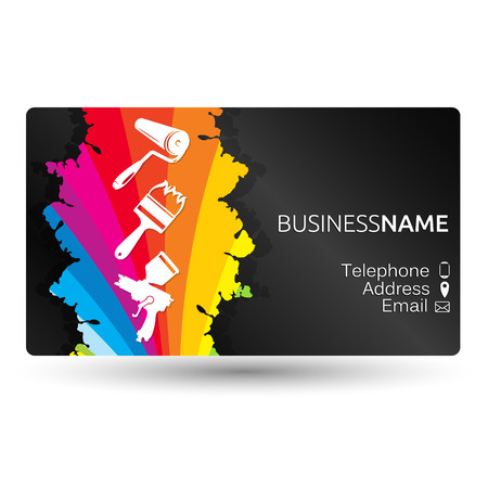 Business card for painting business layout