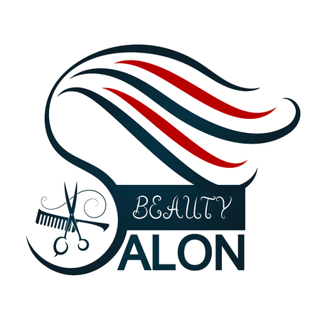 Beauty Salon Symbol For Business Scissors And Comb Royalty Free