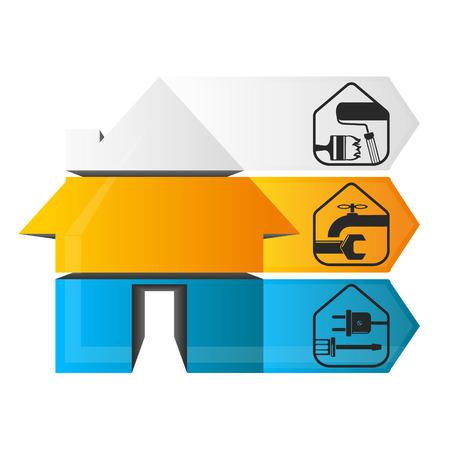 repairs: Home Repair infographics vector for business