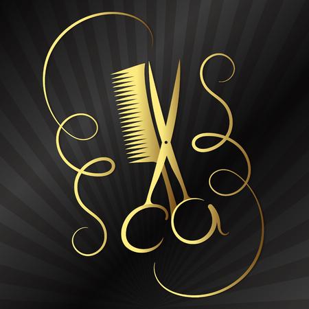 comb: Scissors and Comb beauty salon and barber shop design