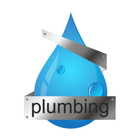 Water Drop Vector Symbol For Plumbing And Water Treatment Royalty