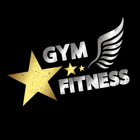 fitness gym: Gym and fitness banner for sports