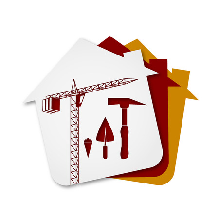building site: Construction of buildings symbol for Business