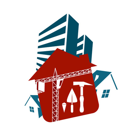 multistorey: Construction and sale of housing vector