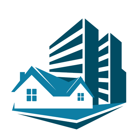multistorey: Sale of housing symbol for the construction business
