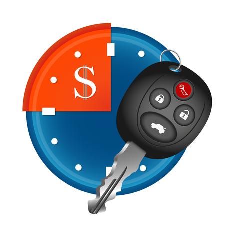 Car rental time symbol for business Illustration