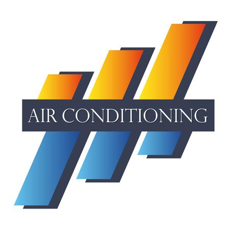 Air conditioning symbool abstract voor het bedrijfsleven Stock Illustratie