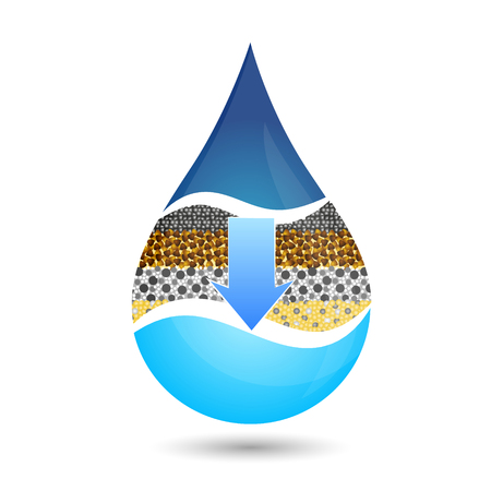 filtering: Drop of water symbol for vector filtering Illustration