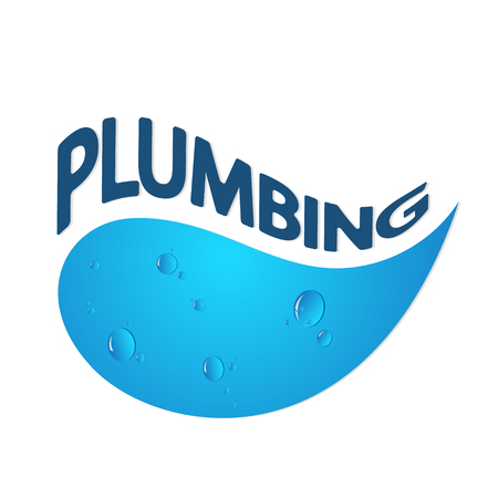 Plumbing for home abstraction with drops of water Illustration