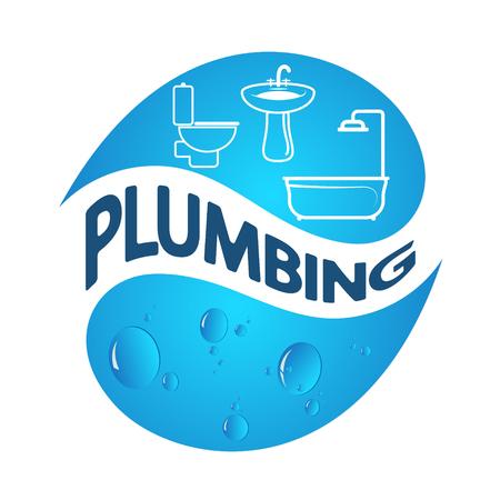 maintenance work: Plumbing symbol of business vector design Illustration