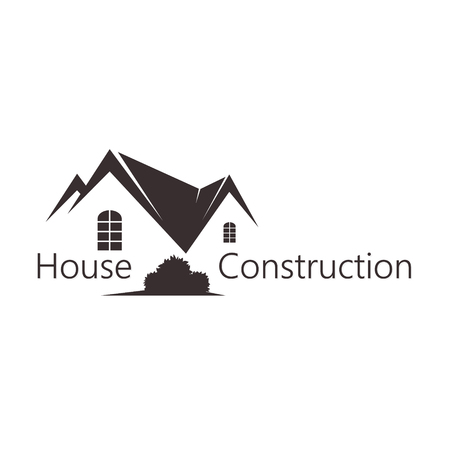 multistorey: Building and sales of housing symbol for business Illustration