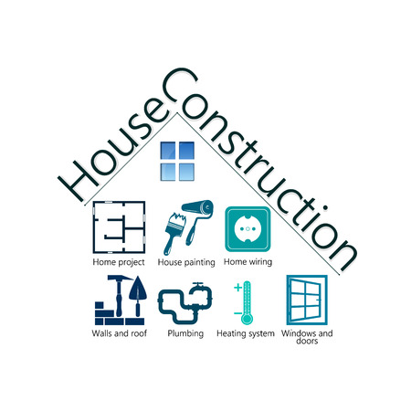 house building: House building symbol design for business vector