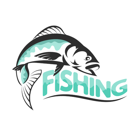 pez vela: Silhouettes of fish for fishing vector Vectores