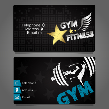 trainers: Business Card gym and fitness concept