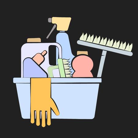 Design de produits de nettoyage pour les entreprises Vecteurs