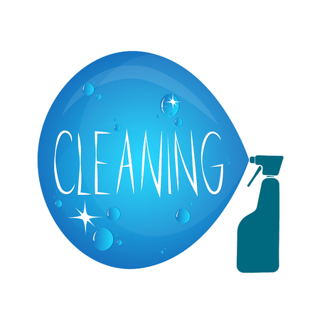 cleanliness: Symbol for cleanliness and cleaning products silhouette vector Illustration