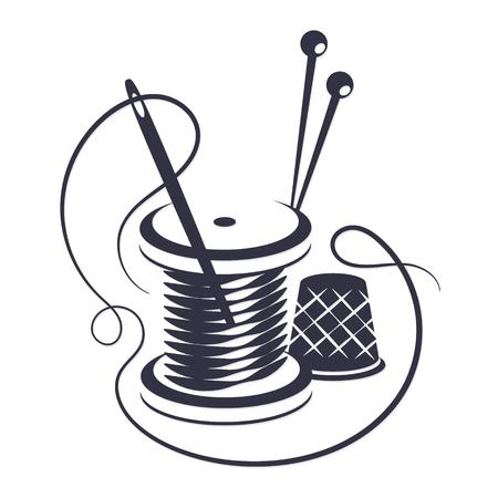 Symbol do szycia gwintem i igłą