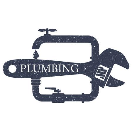 Plumbing design service for business Illustration