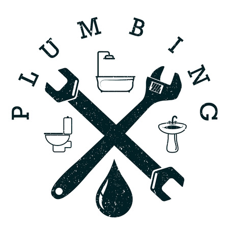 Plumbing service design for business with a tool