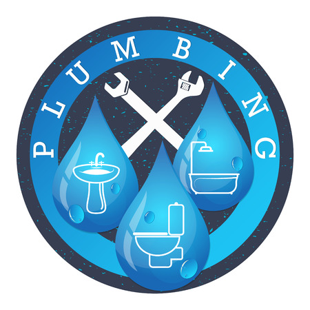 Plumbing and water systems for business vector Çizim