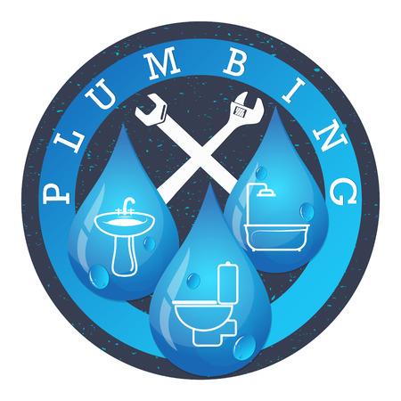 Systemy wodno-kanalizacyjne dla biznesu wektor Ilustracje wektorowe
