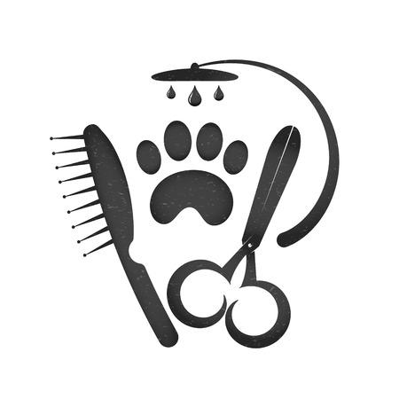 Symbol für den Schnitt von Hunden und anderen Haustieren Standard-Bild - 82029154
