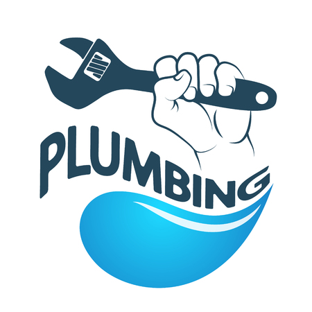 The water key in hand to repair plumbing symbol for Business
