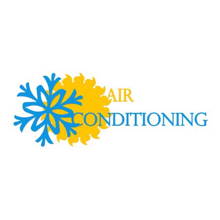 Air conditioning symbool vector business Stock Illustratie