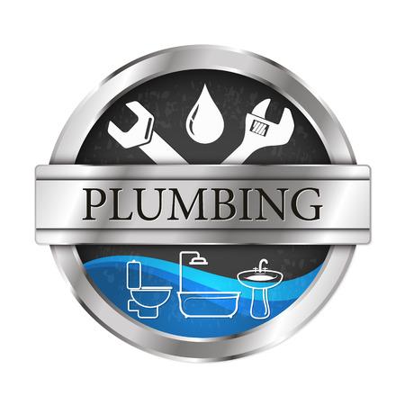 Sanitair en stromend water vectorillustratie van reparaties en onderhoud Vector Illustratie