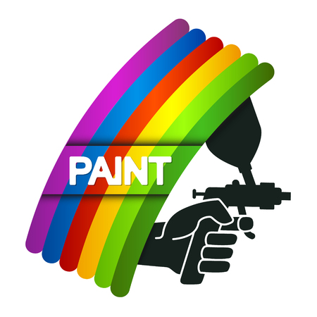 Spray for painting in hand symbol for business Illustration