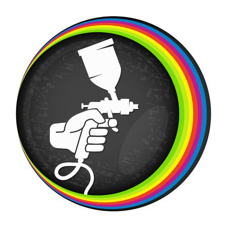 Spray voor het schilderen symbool voor vector