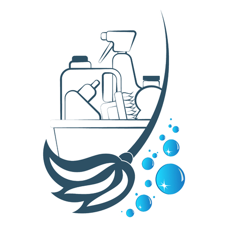 Cleaning and detergent symbol for business